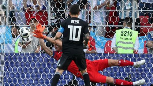 Lionel Messi famously missed from the spot against Iceland