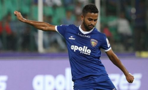 Bikramjit Singh in action for Chennaiyin FC