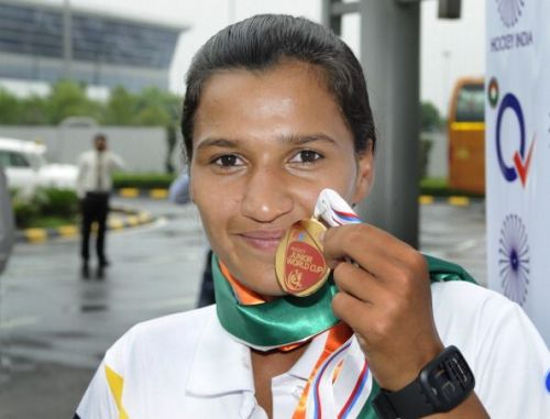 Bronze-Medal Winning Indian Junior Women's Hockey Team Returns Back