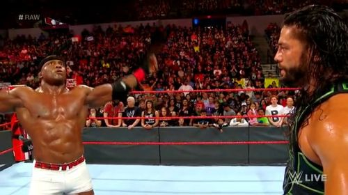 Lashley added salt to the loss by mocking spear.
