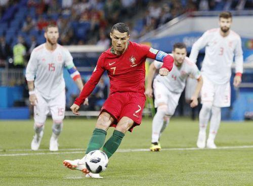Football: Spain vs Portugal at World Cup