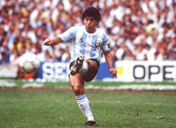 FUSSBALL: WM 1986 in MEXIKO, ARGENTINIEN - BELGIEN 2:0