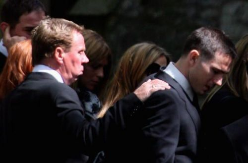Mourners Attend Pat Lampard's Funeral