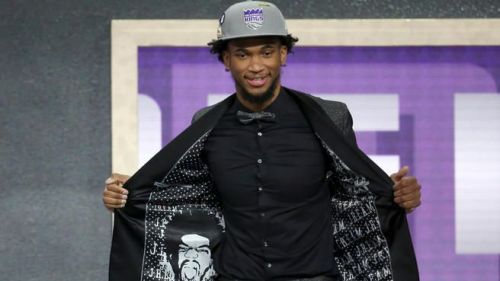 Marvin Bagley being drafted by the Kings