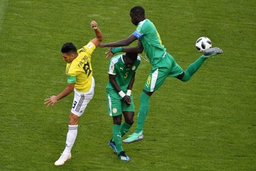 Cheikhou Kouyate (#8) and Idrissa Gueye (#5) failed to drive Senegal forward from midfield