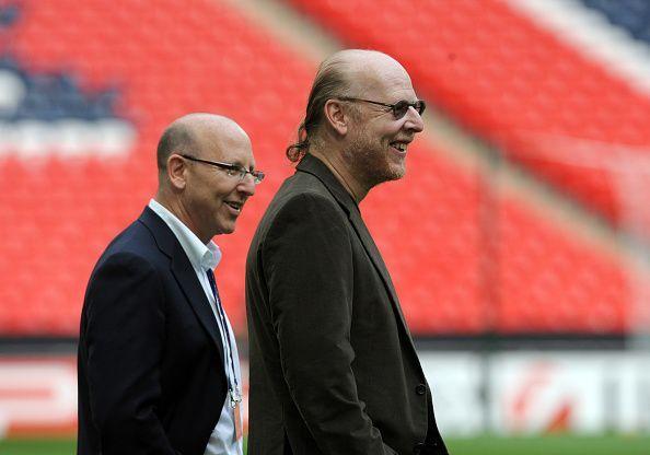 Avram and Malcolm Glazer At Wembley Stadium