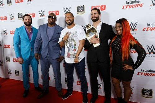 Celebrities Attend WWW Wrestling Show In Paris