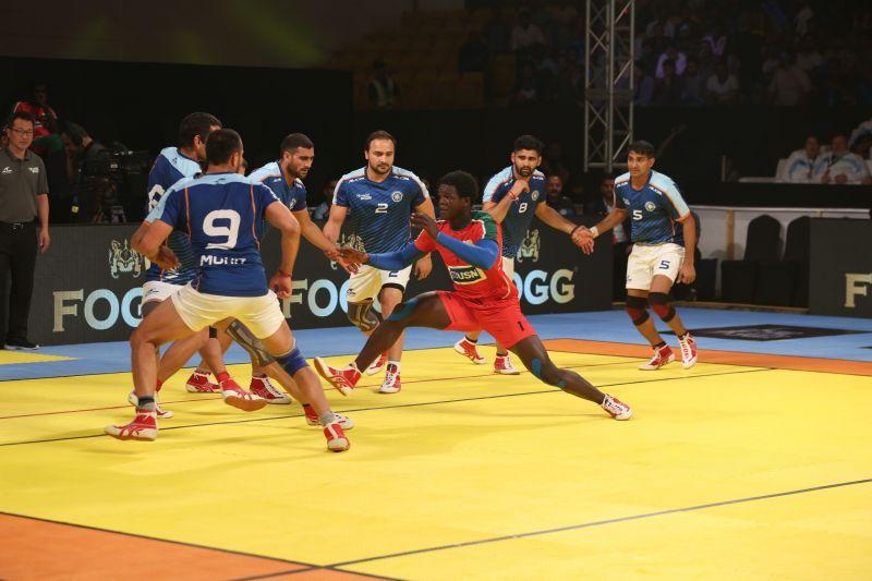 kabaddi masters dubai 2018 india iran end stage on