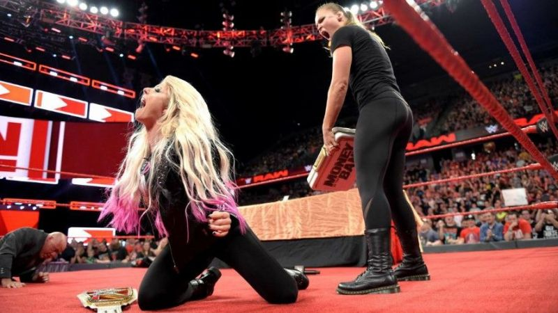 Image result for RAW GM Kurt Angle Suspends Ronda Rousey For 30 Days after attacking Alexa Bliss, Angle and referees
