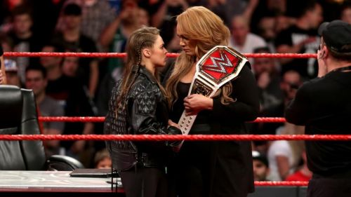 Image result for ronda rousey nia jax face to face raw