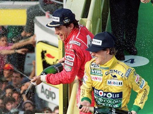 Ayrton Senna and Michael Schumacher