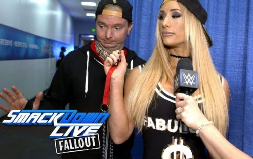 James Ellsworth previously served as Carmella's manager on SmackDown Live