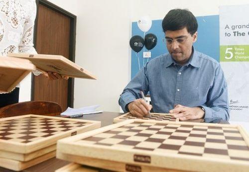 Indian Chess Grandmaster Viswanathan Anand In Pune