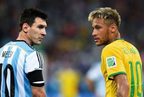 Image result for messi and neymar in national side
