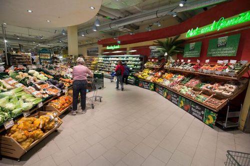 Edeka supermarket - fruit and vegetables department.