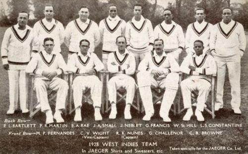West Indies test debut vs England 1928
