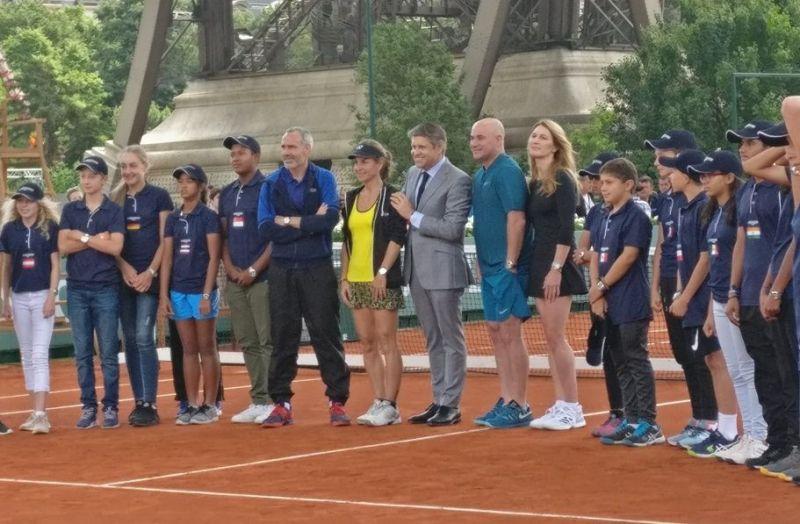 Steffi Graf, Andre Agassi, Arantxa Sanchez-Vicario, Alex Corretja