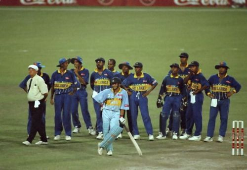 Cricket World Cup 1995-96, India v Sri Lanka at Calcutta (Semi-final)