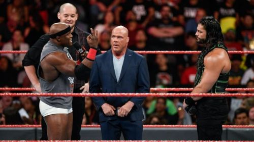 Angle announced that the number one contender's match at Extreme Rules was cancelled