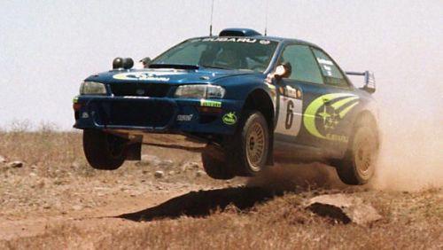 The Subaru Impreza WRC of Finns Juha Kankkunen and