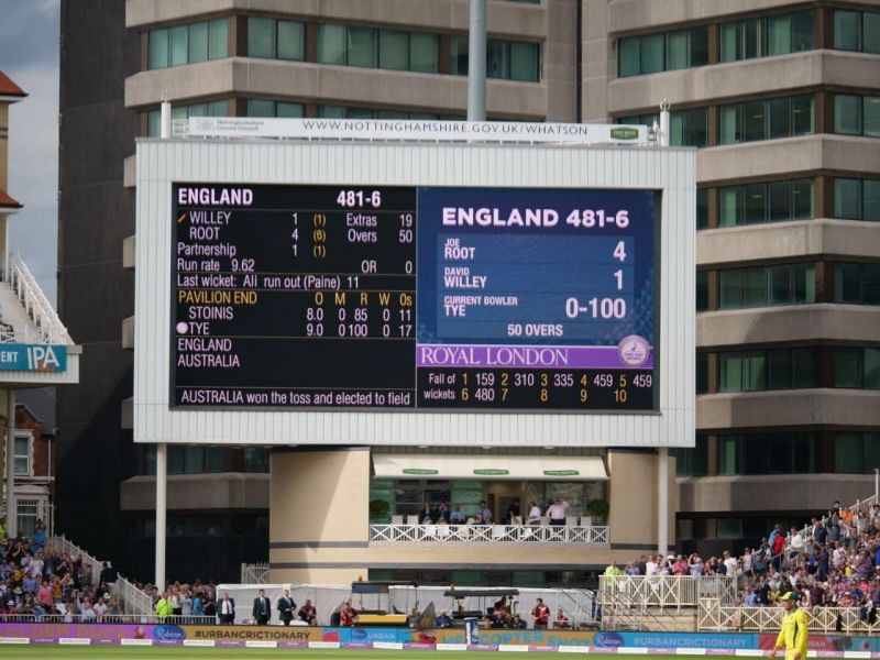Engish batsmen were on their way to 500 before falling short by 19 (Source: Twitter)