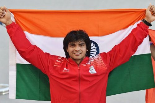 Asian Games 2018 : Neeraj Chopra in action on Day 3 of Athletics at Asian Games