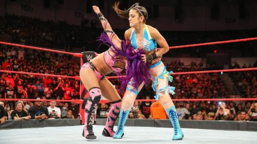 Bayley and Sasha fought each other on Raw before they had to be sent for counselling