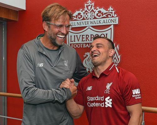 Liverpool Unveil New Signing Xherdan Shaqiri