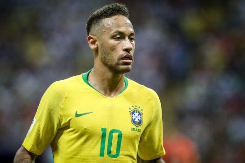 Neymar da Silva Santos Jr. of Brasil during a match between...