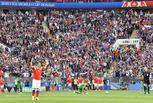 Football: Russia vs Saudi Arabia at World Cup