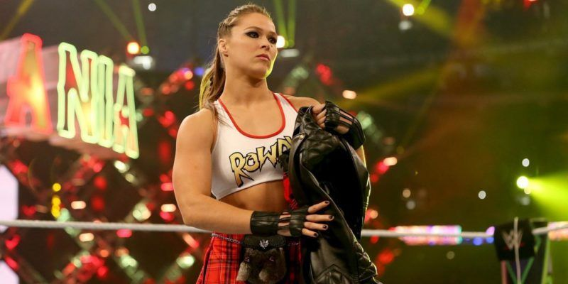 Ronda Rousey made her in-ring debut at WrestleMania