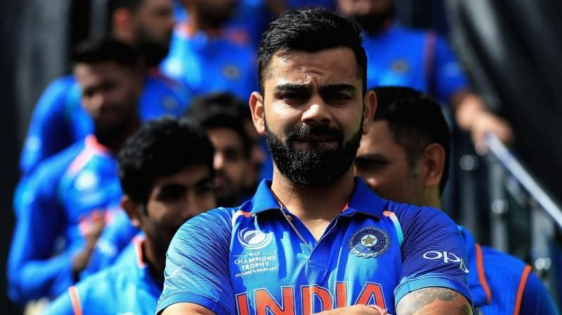 Image result for virat kohli with Indian team