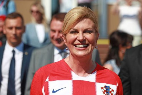 Croatian President Kolinda Grabar-Kitarovic arrives in Sochi to attend 2018 FIFA World Cup Quarter-final match between Russia and Croatia