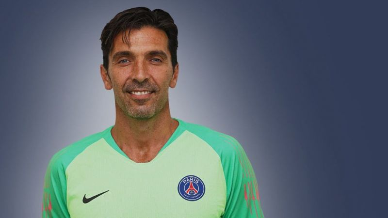 Buffon in his new PSG kit