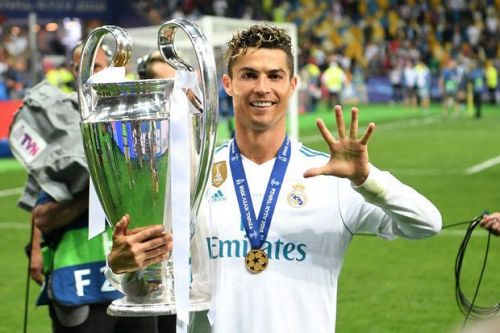 Ronaldo with UCL trophy