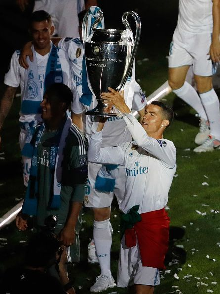 Real Madrid Celebrate After Victory In The Champions League Final