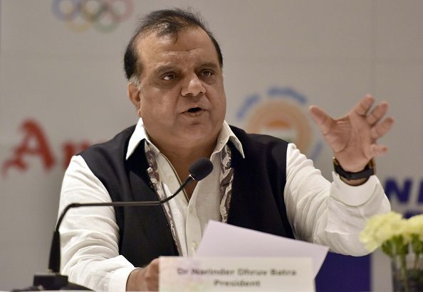 Press Conference Of Indian Olympic Association President Narendra Batra