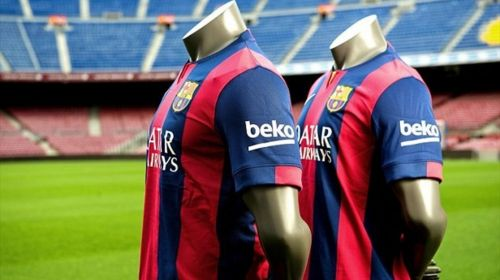 Barcelona became the first club to agree to place a corporate logo on their shirt sleeves