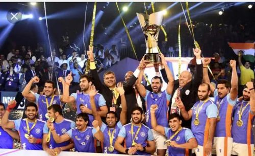 There is no competition beyond India when it comes to Kabaddi. They've won all 3 Kabaddi World Cups (2004, 2007 and 2016).