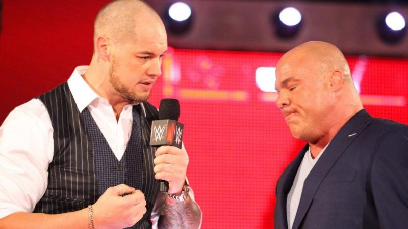According to the latest rumor, WWE is planning a match between Team Kurt Angle and Team Baron Corbin