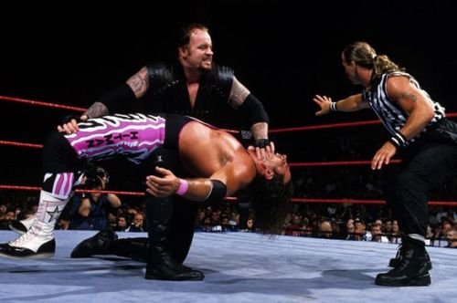The Undertaker lost to Bret Hart at SummerSlam 1997 after special guest referee Shawn Michaels hit him with a chair