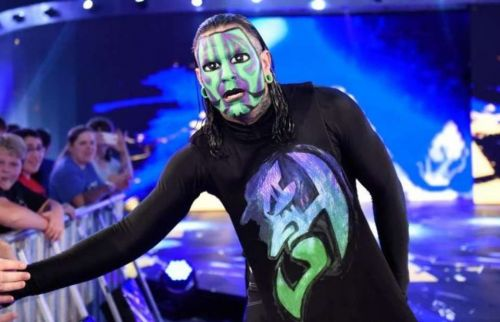 Jeff Hardy is intimidated by Brock Lesnar