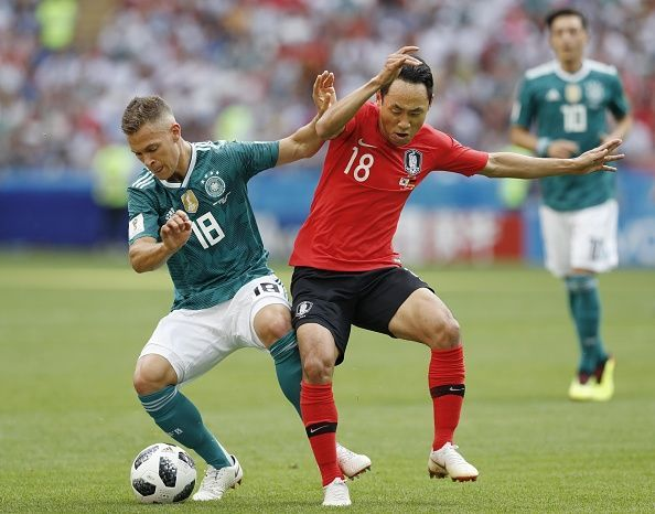 Football: S. Korea vs Germany at World Cup