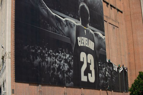 LeBron James Banner Removed From Outside Cleveland Cavaliers