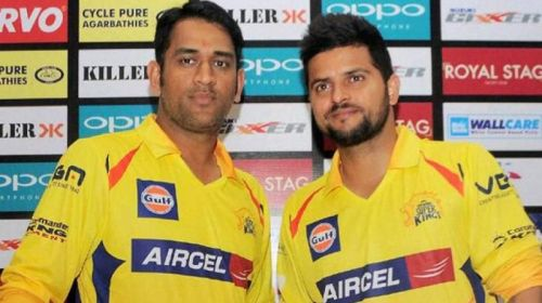 Image result for dhoni vs raina