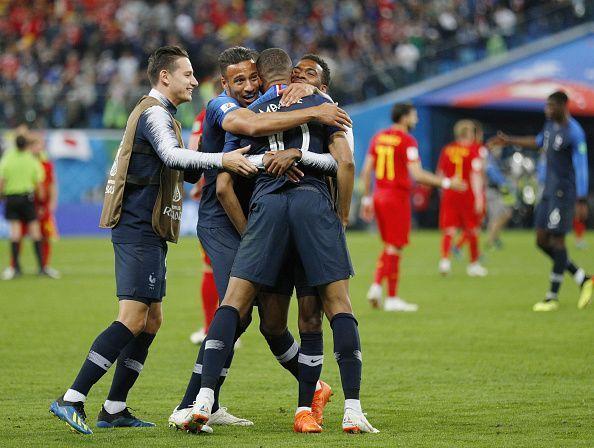 Football: France vs Belgium at World Cup