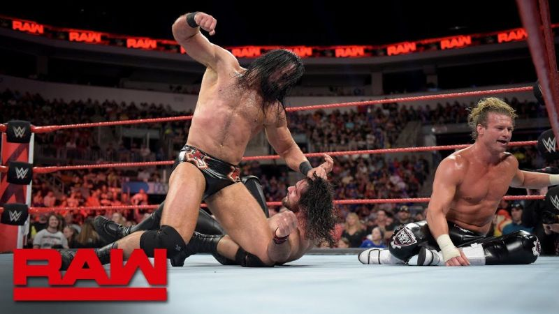 Drew McIntyre and Dolph Ziggler vs. Seth Rollins