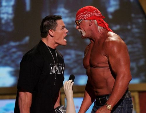 Hulk Hogan and John Cena never had the opportunity to square-off