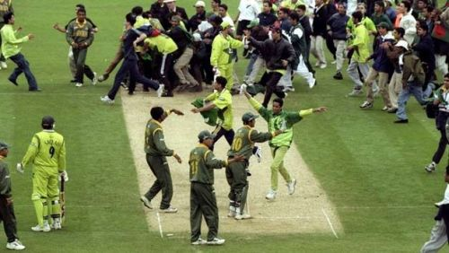 A common sight in cricket during the 90s