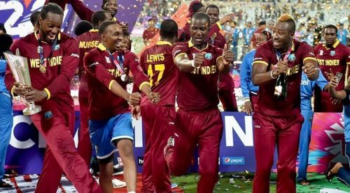 West Indies team with 2016 T20I world cup